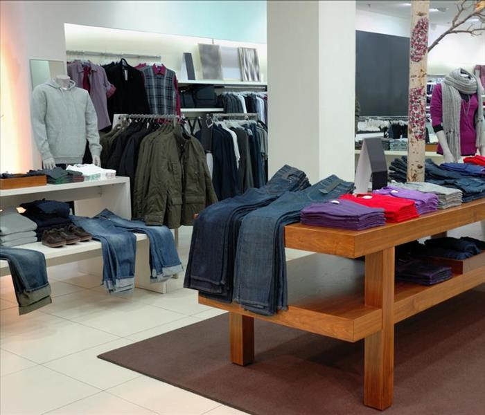 Commercial Recovering Clothing Store Merchandise After Water Damage in Battle Ground